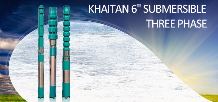 Khaitan Submersible Three Phase Water Pumps Online, India - pumpkart.com