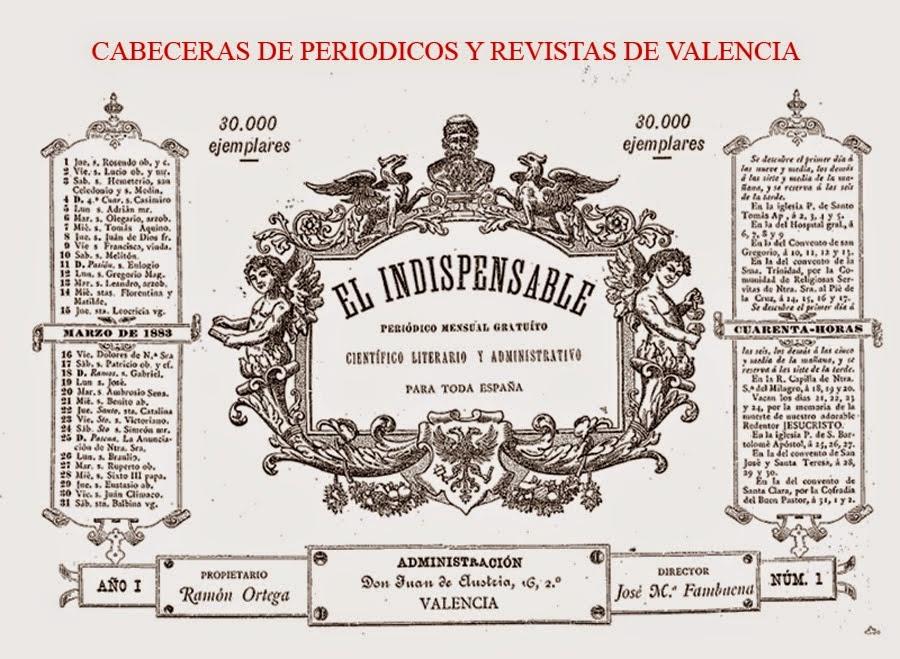 CABECERAS DE PERIÓDICOS Y REVISTAS DE VALENCIA