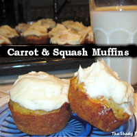 Carrot - Squash Muffins with Cream Cheese Icing