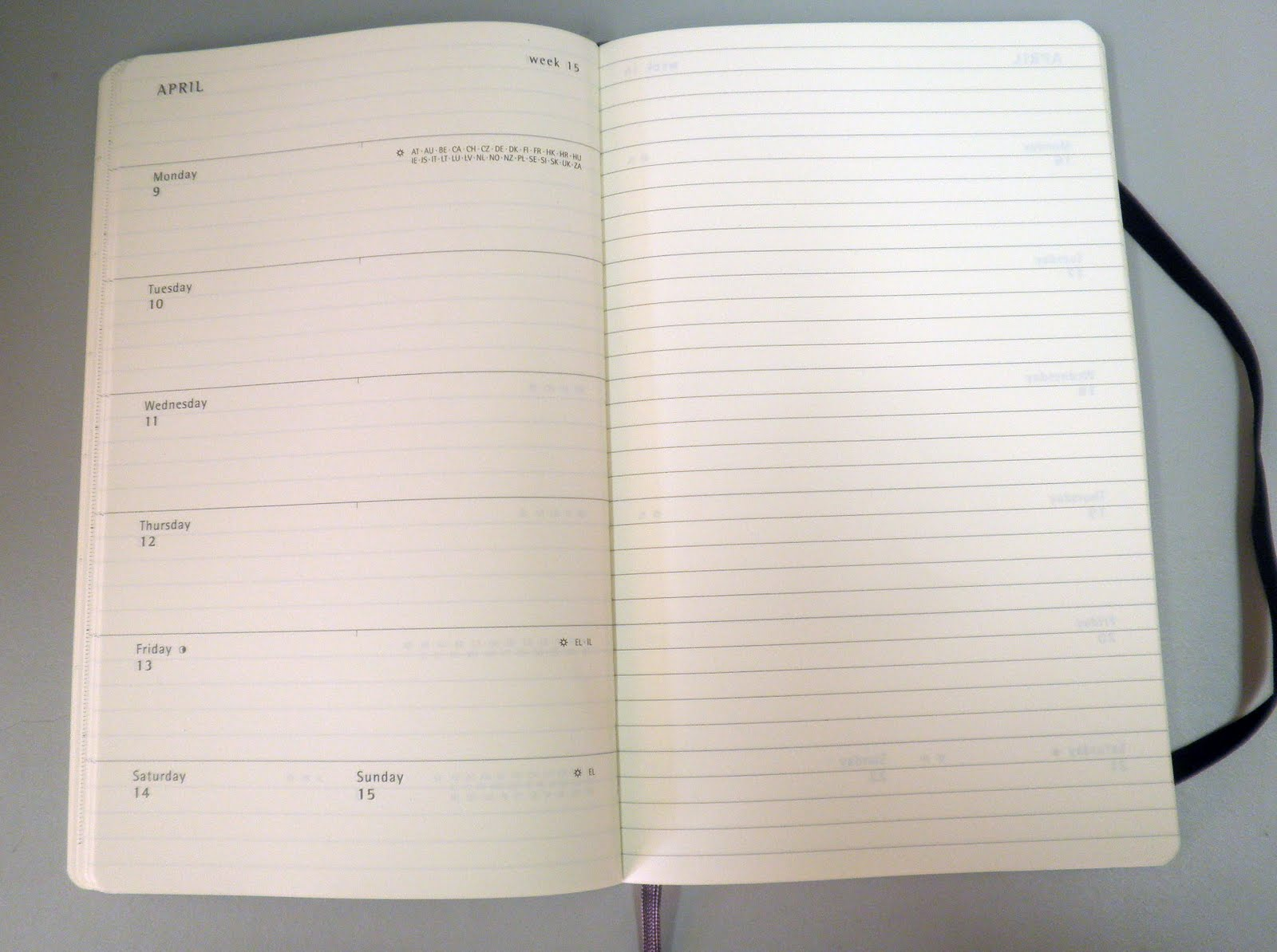 Image result for moleskine weekly planner