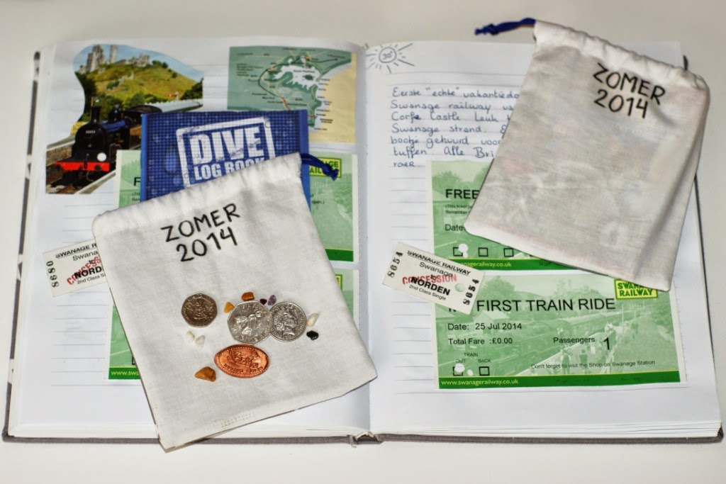 holiday journal and treasure bags