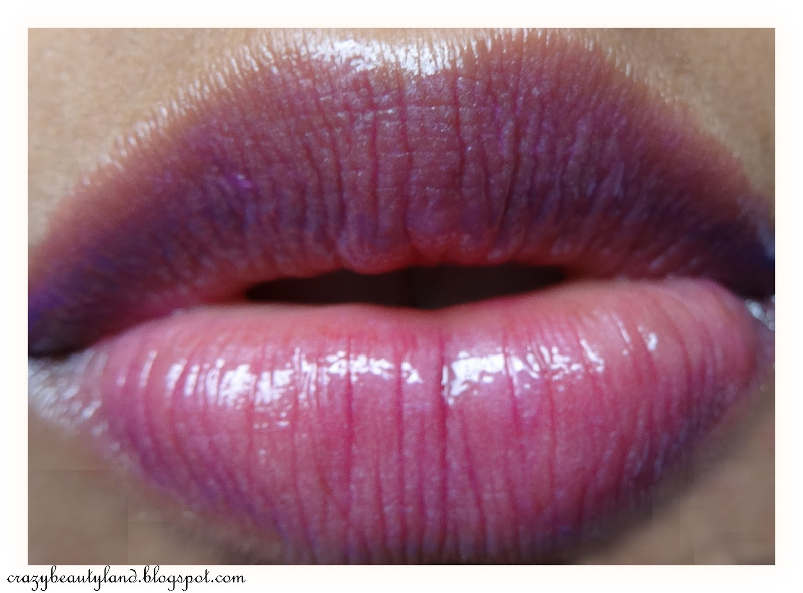 Review of L'Oreal Paris Shine Caresse Lip Color in the shade 603 Milady. Dupe of YSL Glossy Stains. Lip Swatches of Milady