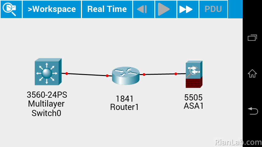 Topology Packet Tracer Android
