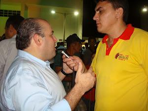 RADIALISTA DENES LIMA E O DEP. ROBERTO CLAUDIO, PRESIDENTE DA ASSEMBLEIA  DO ESTADO DO CEARÁ.
