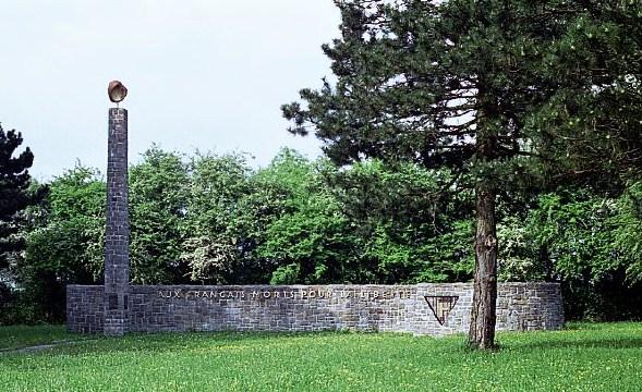 French Monument, Mauthausen Concentration Camp, Vienna / SouvenirChronicles.blogspot.com
