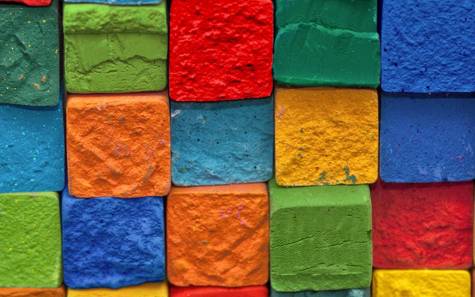 Colourful Brick HD Wallpaper