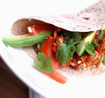 Oppskrift Hjemmelaget Tacofyll Chili Con Soya Vegansk Taco Vegetartaco Tortilla