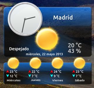 Meteorología en Ubuntu 13.04, my weather indicator en ubuntu 13.04