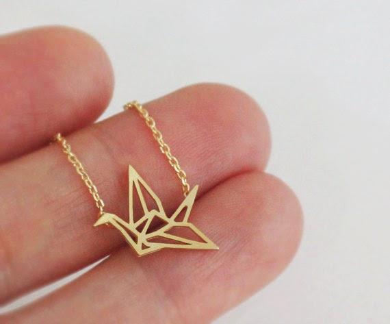 pendentif origami grue etsy bijoux