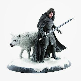 Estatua de Jon Nieve y Fantasma (Ghost)