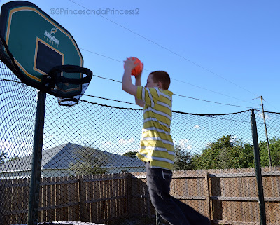 Trampolines, basketball