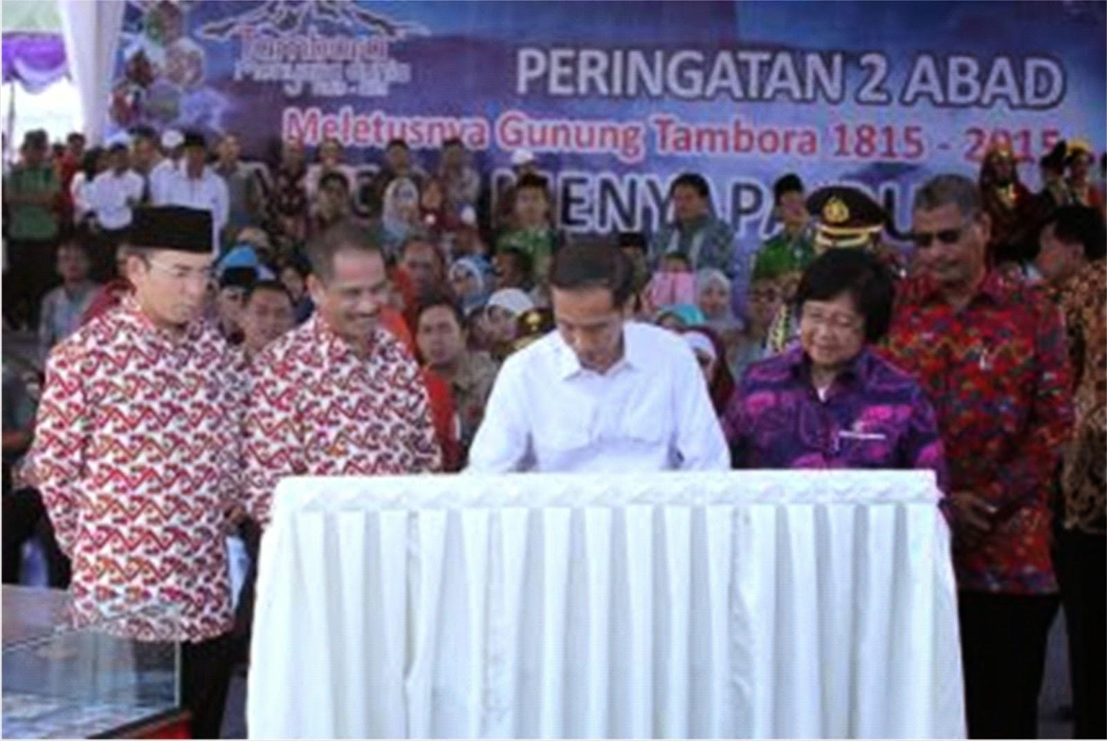 Jokowi Hadiri Event Tambora Menyapa Dunia