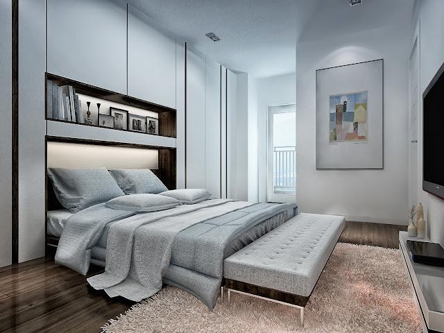 Phòng ngủ căn hộ GoldSilk Complex