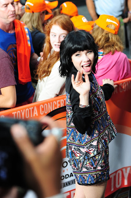 Singer @ Carly Rae Jepsen - Performing on the 'Today' show in New York City