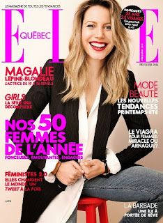Magalie Lépine Blondeau Magazine Photoshoot Pics by Photographer Robbie Fimmano Elle Quebec Magazine Canada