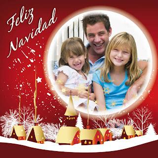 Feliz navidad con una familia unida