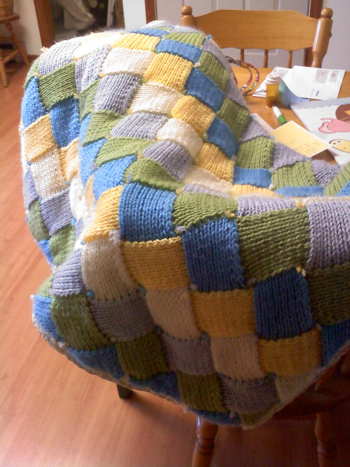 Entrelac Blanket Knitting Pattern : Coping by Knitting: Entrelac Baby Blanket