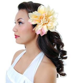 dahlia lily hair clips