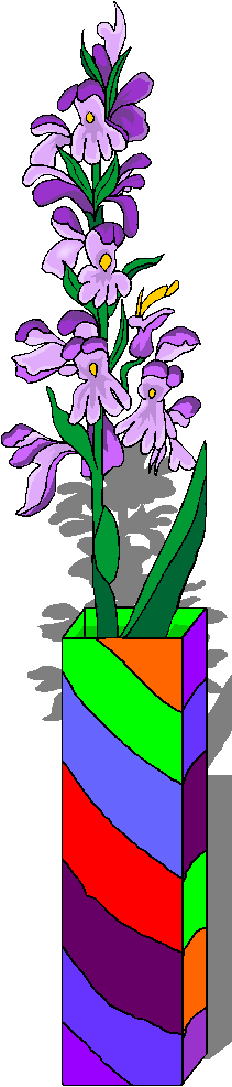 Colorful Flowers in a Vase Free Clipart