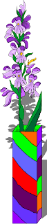 Purple Flower in a Vase Free Clipart