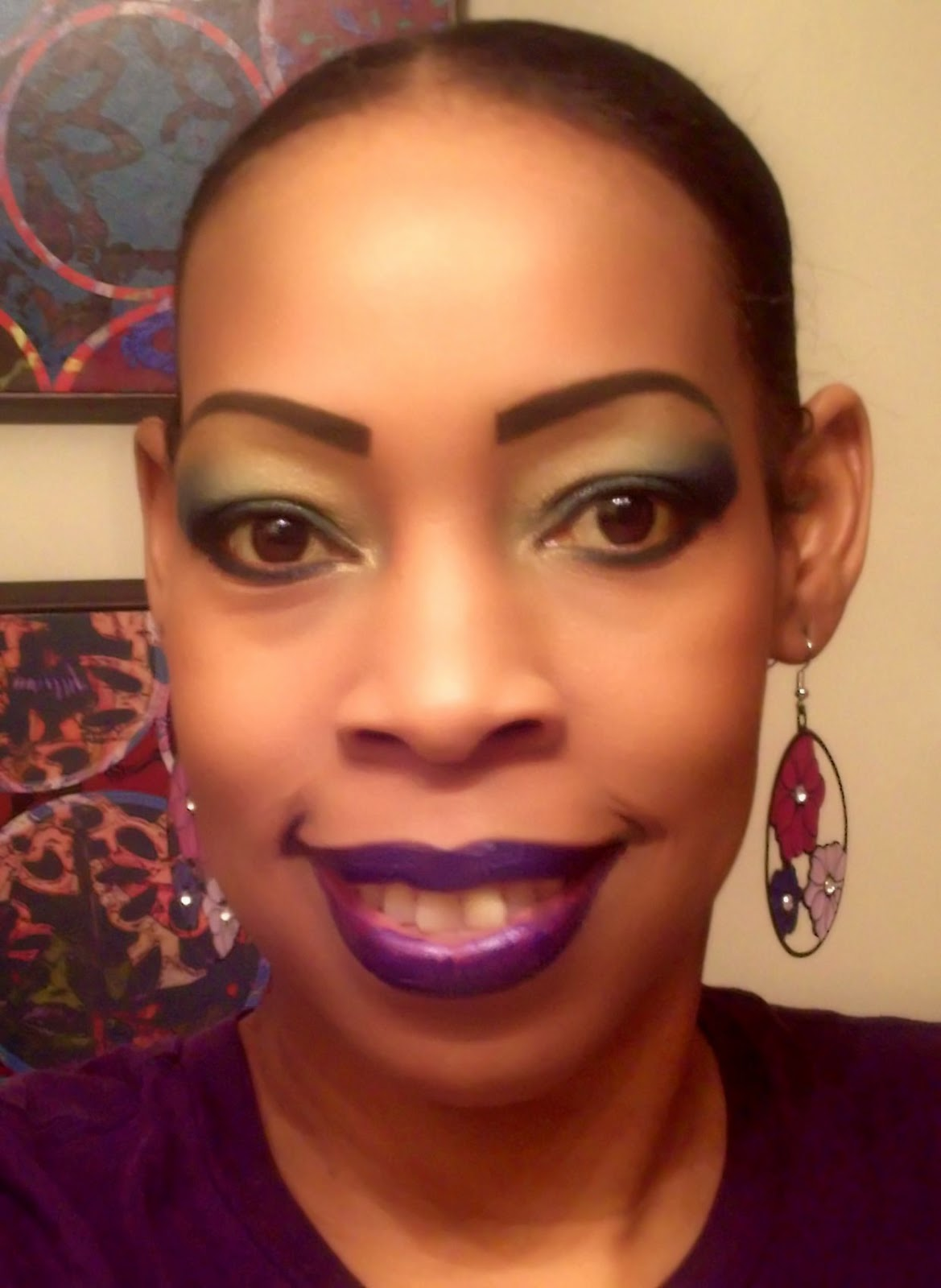 Young And Beautiful Makeup Mardi Gras Makeup