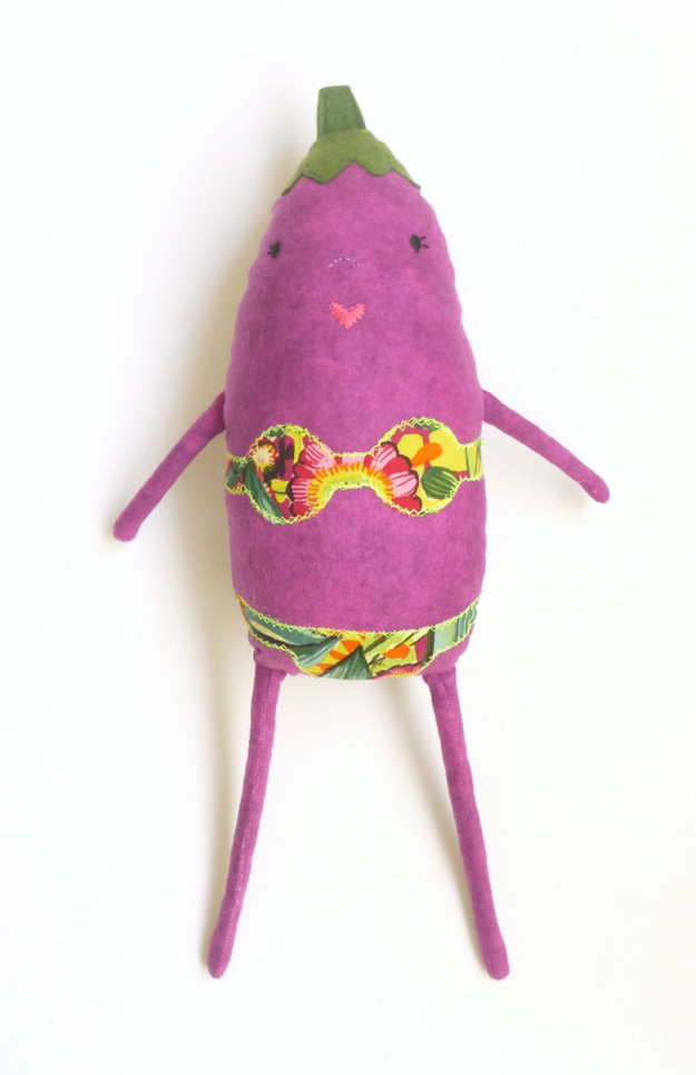 egg plant with bikini