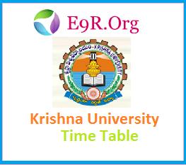 Krishna University - KU LL.B and B.A, LL.B Exam Time Table, Hall ticket, Results 2014