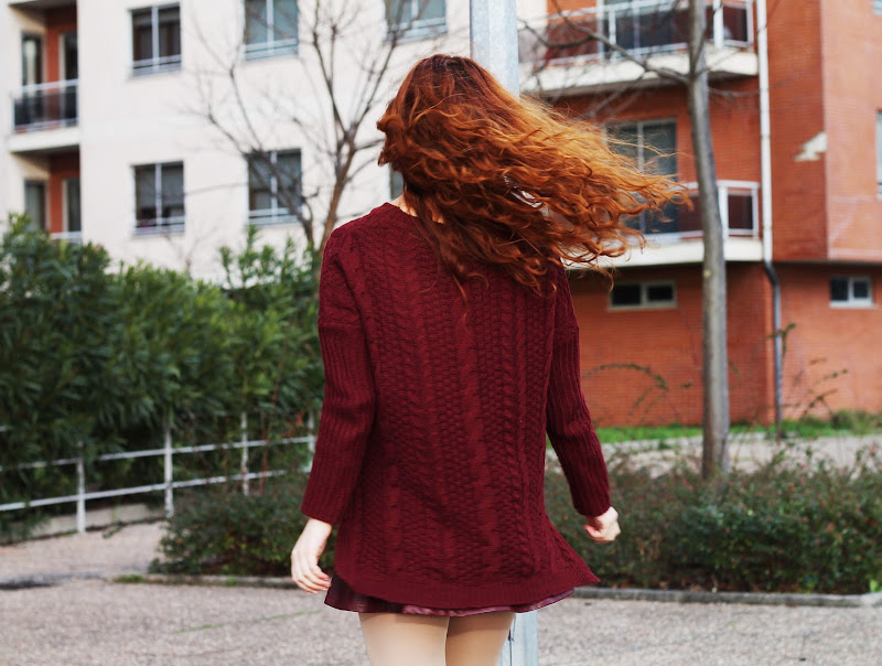 fun fashion girl with red hair