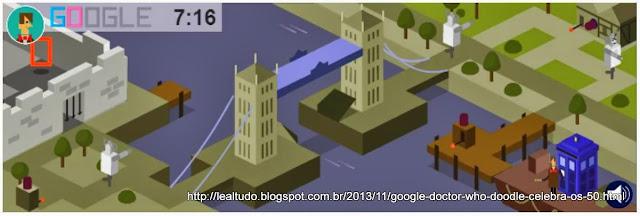 Doctor Who Games Doodle Google Jogos Interativos