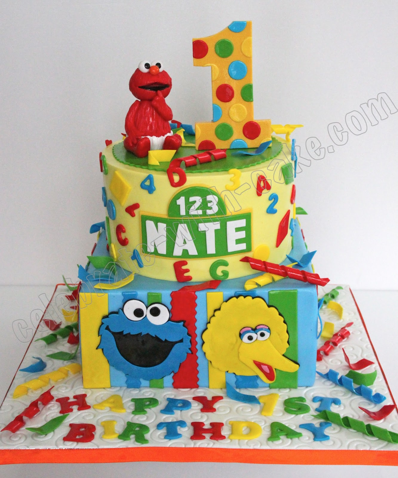 Celebrate with Cake Sesame Street Themed Cake