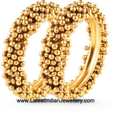 Ghungroo Gold Bangles