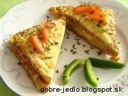 Prekladané toasty s ananásom - recept