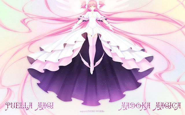 Puella Magi, Goddess Madoka, anime wallpaper
