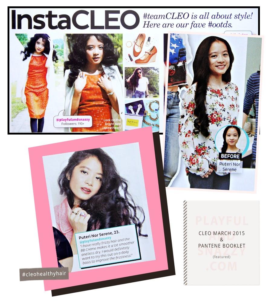 Cleo March 2015 & Pantene Booklet, cleohealthyhair, pantenemalaysia, playfulandsnazzy.com, playfulandsnazzy, @playfulandsnazzy