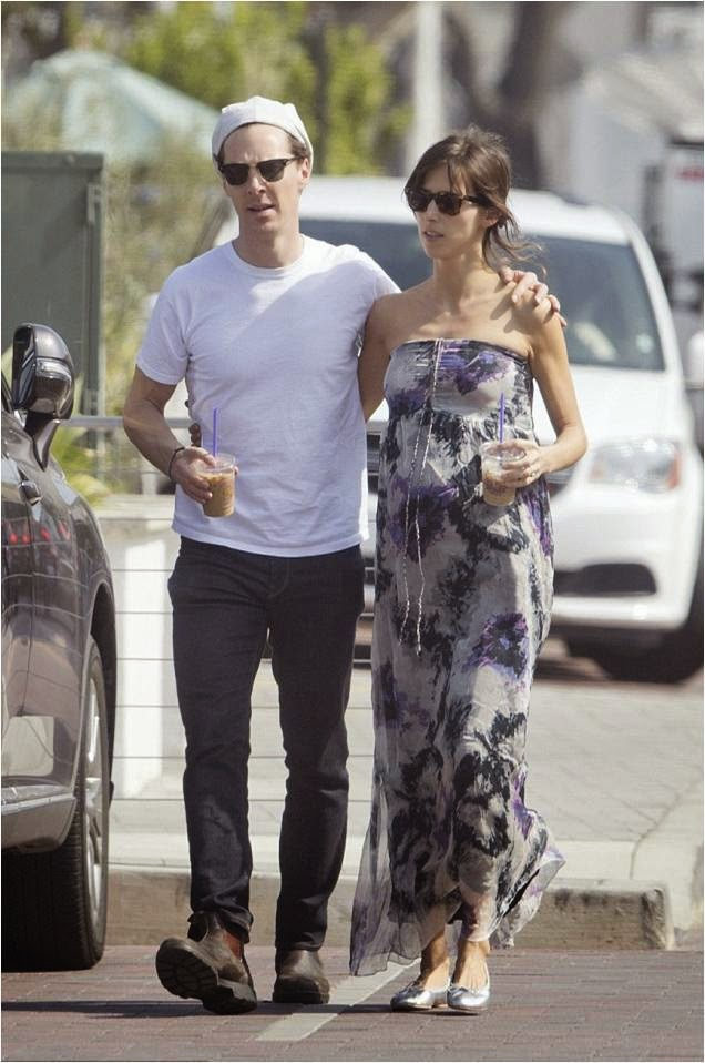 Sophie Hunter Wearing Seraphine Maternity Dress