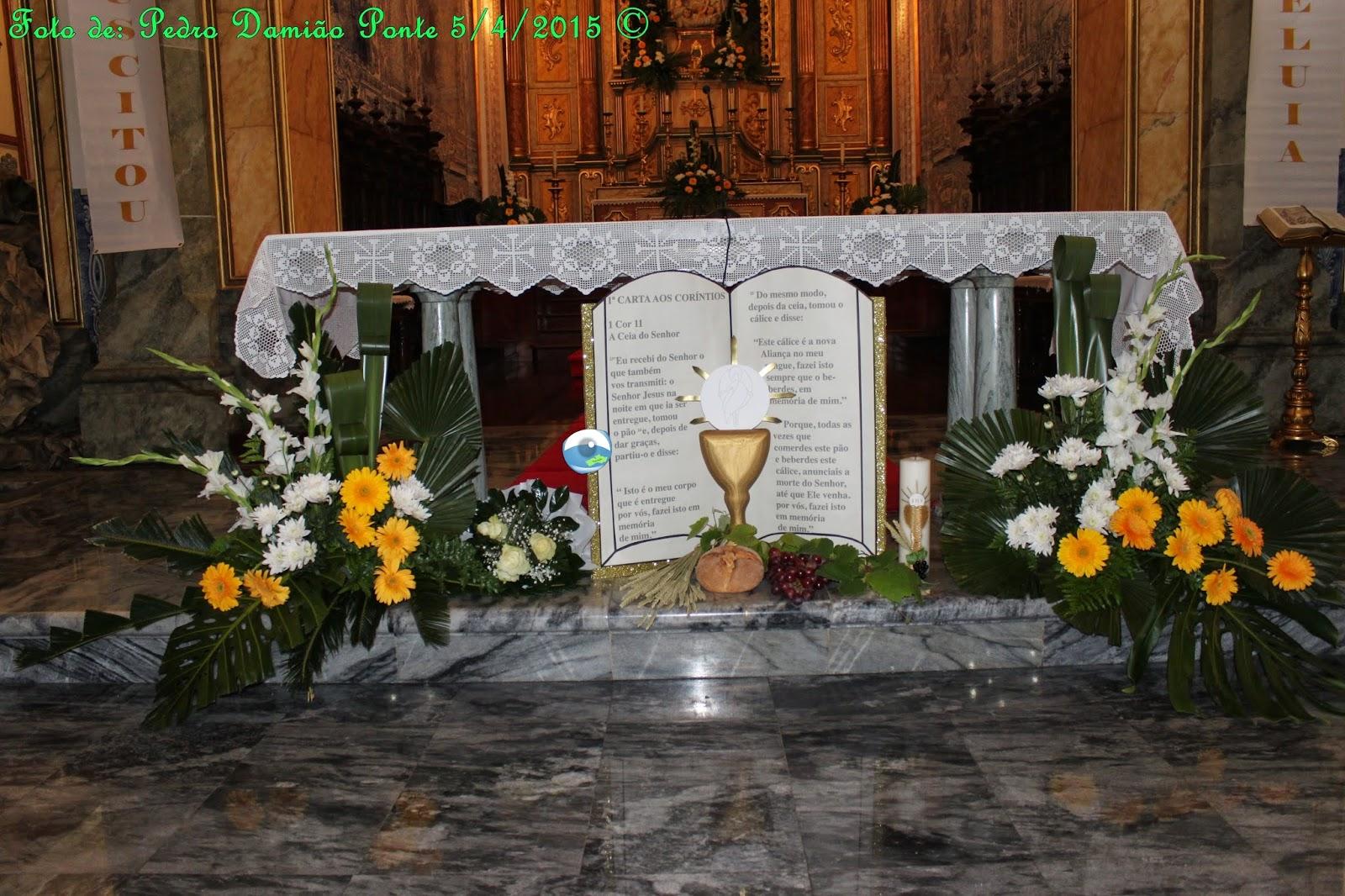 IGREJA MATRIZ DECORADA A PRECEITO EM DIA DE PRIMEIRAS COMUNH u00d5ES ~ Um Olhar Povoacense -> Decoração Para Primeira Comunhão Na Igreja