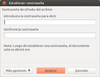 Tuto: Cómo guardar documentos de LibreOffice con contraseña, proteger documentos libreoffice, contraseña al abrir documento