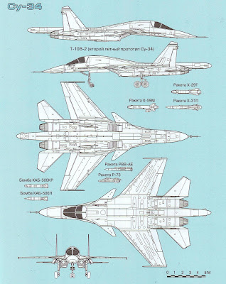 Тактико-технические характеристики Су 34