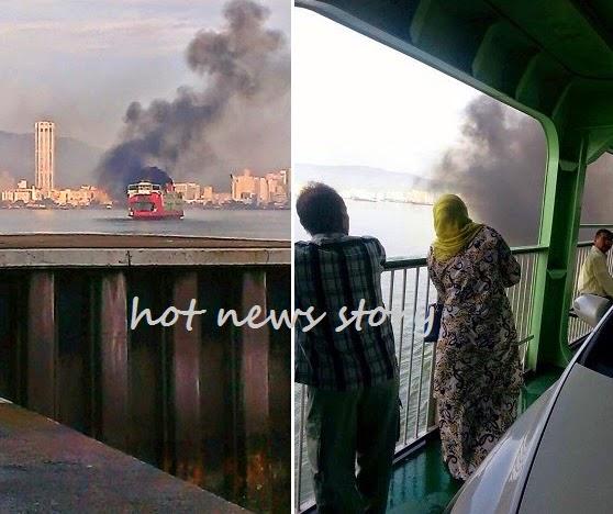 Feri Pulau Pinang Tiba Tiba Berasap Terbakar Cetus Panik