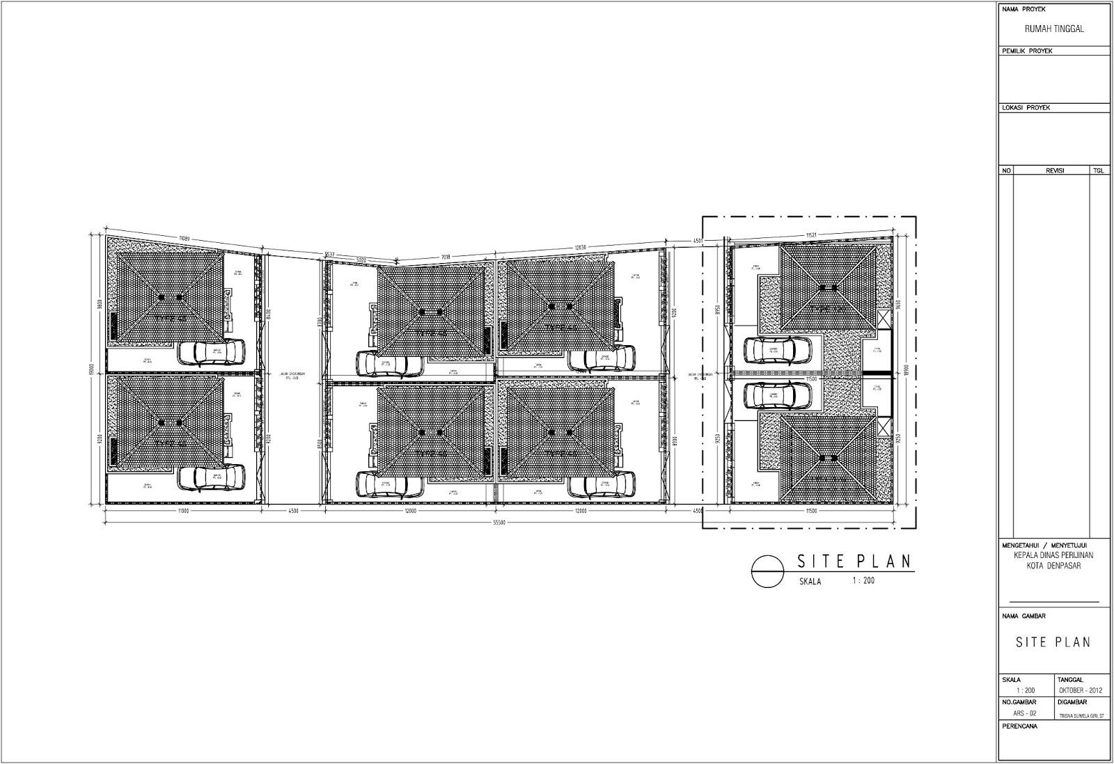 contoh site plan rumah tinggal
