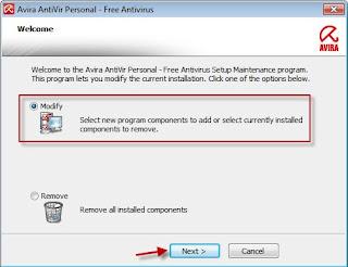 Memasang AntiVir Personal Edition Toolbar Pada Modzila Firefox