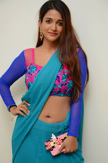 Anaika Soti in Spicy Green Saree and Pink Blouse at RGVs 365 Days movie