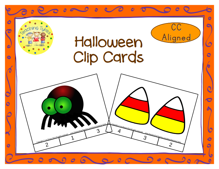 http://www.teacherspayteachers.com/Product/Halloween-Count-Clip-Cards-Common-Core-Aligned-902848