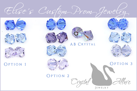 Elise's Custom Prom Jewelry in Ombre Swarovski Crystals by Crystal Allure Beaded Jewelry Creations
