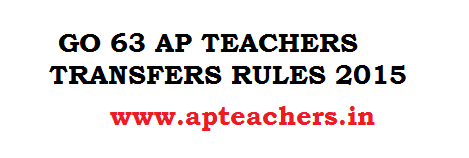 GO 63 AP Teachers Transfers 2015 Rules GO AP Teachers Transfers GO 2015