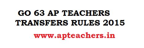 GO 63 AP Teachers Transfers 2015 Rules GO AP Teachers Transfers GO 2015