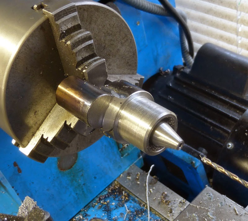 turning taper and drilling hole