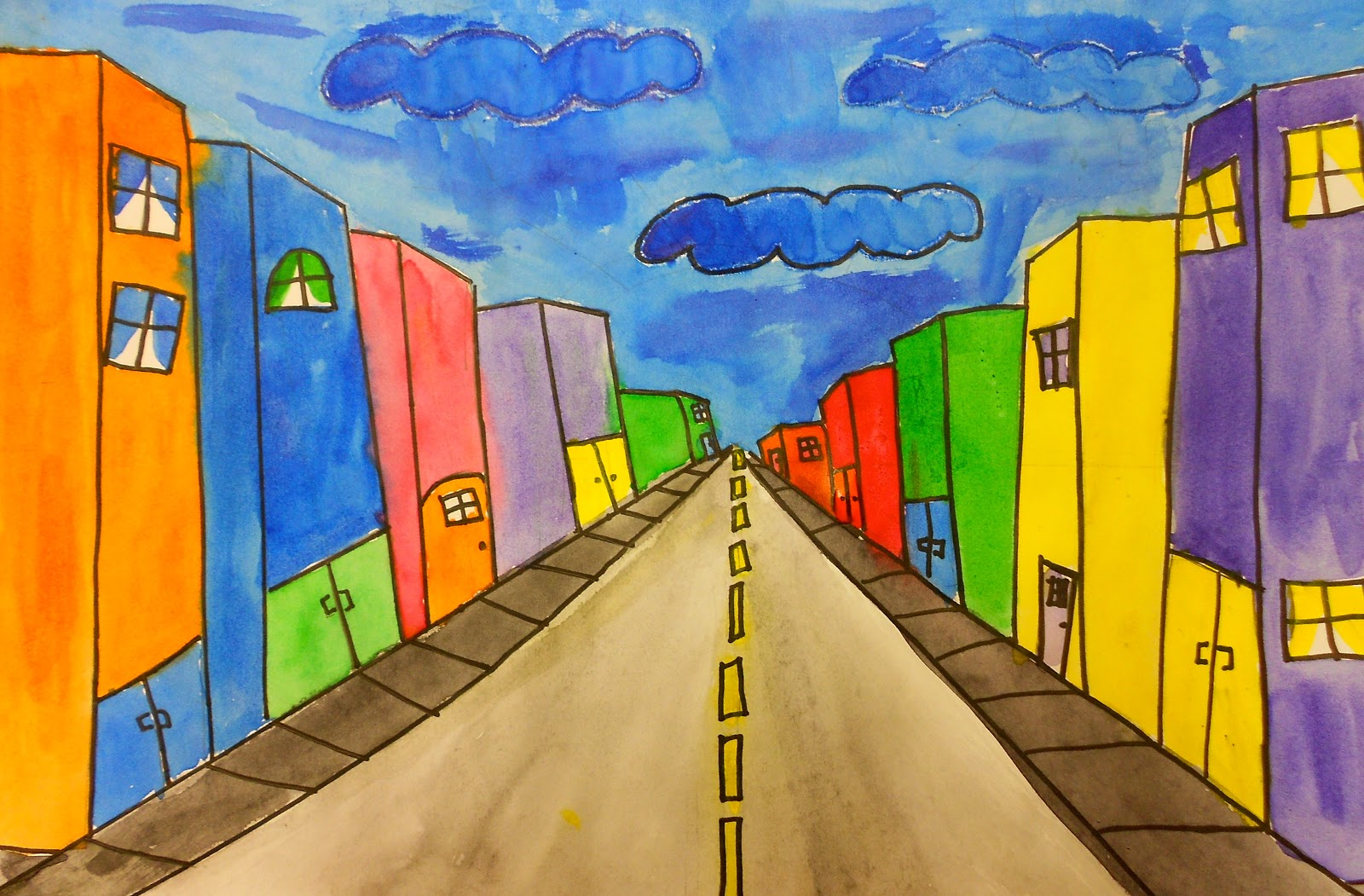 Art Eat Tie Dye Repeat 6th Grade One Point Perspective