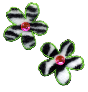 zebra print flowers for scrapbooking png