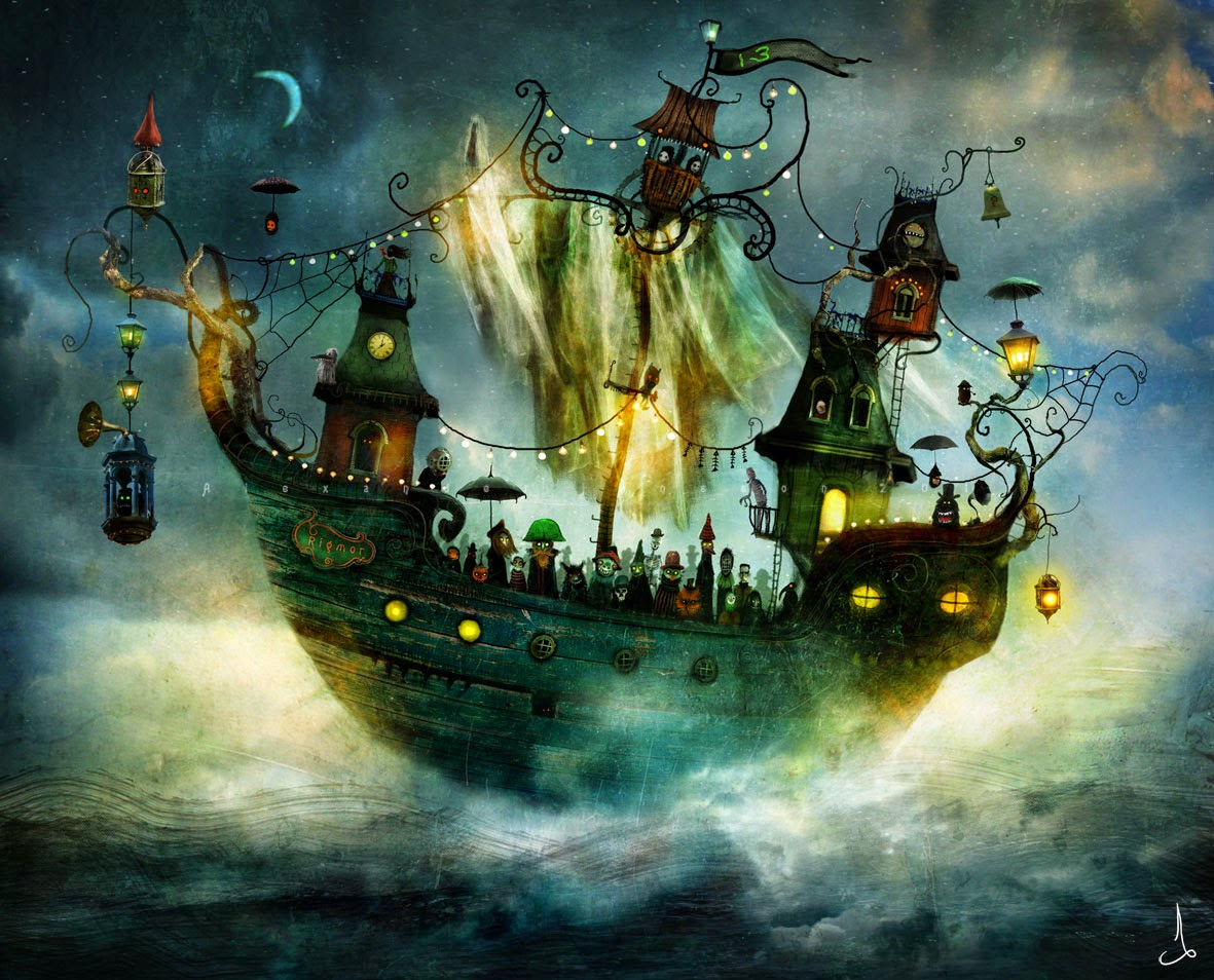 08-Alexander-Jansson-Fairy-tale-Worlds-in-Surreal-Paintings-www-designstack-co
